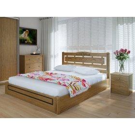Кровать с подъемным механизмом Осака люкс 140х200 из ясеня
