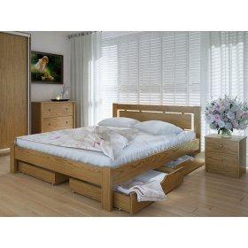 Кровать Осака с ящиками дуб