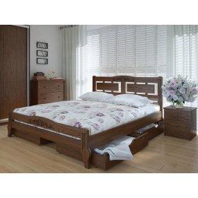 Кровать Пальмира люкс плюс с ящиками ясень