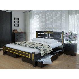 Кровать Пальмира люкс с ящиками ясень