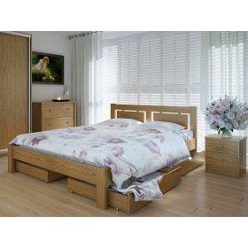 Кровать Пальмира  с ящиками 140х200 из дуба