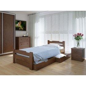 Кровать Сакура с ящиками дуб