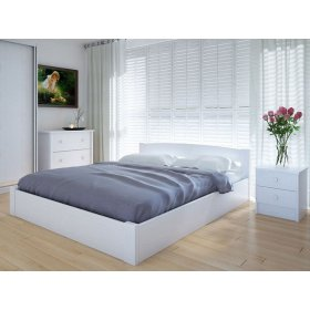 Кровать Скай 160х200 с подъемным механизмом ясень