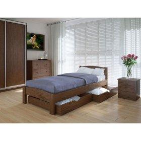 Кровать Скай с ящиками дуб
