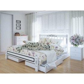 Кровать Вилидж люкс 140х200 с ящиками ясень