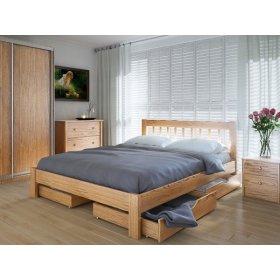 Кровать Вилидж 120х200 с ящиками ясень