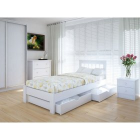 Кровать Вилидж 90х200 с ящиками ясень