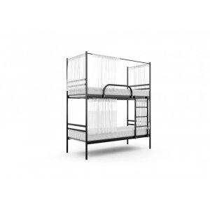 Кровать двухъярусная Duo со шторками 80x200