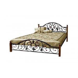 Кровать Жозефина с деревянными ножками 160х190