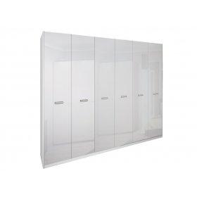 Шестидверный шкаф Белла Глянец белый