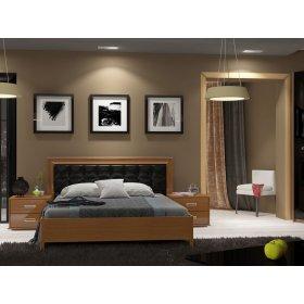 Спальный гарнитур Белла черный глянец-вишня бюзум 2