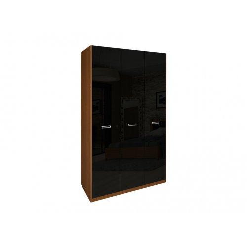Шкаф трехдверный без зеркал Белла черный глянец-вишня бюзум