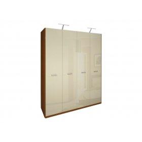 Шкаф четырехдверный без зеркал Белла ваниль-вишня бюзум