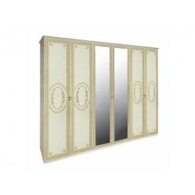 Шкаф шестидверный Примула Радика Беж
