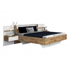 Кровать Асти 160х200 с мягкой спинкой и тумбами