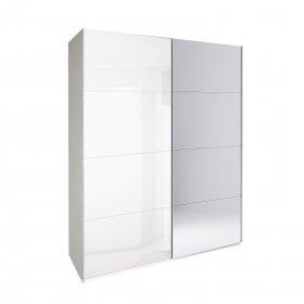 Шкаф-купе Белла 1.5 м (Белый Глянец/Зеркало)