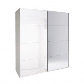 Шкаф-купе Белла 2.0 м (Белый Глянец/Зеркало)