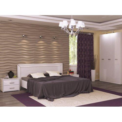 Спальный гарнитур Белла белый глянец 1