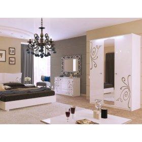Спальный гарнитур Богема белый глянец