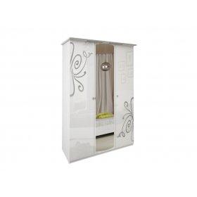 Шкаф трехдверный Богема белый глянец