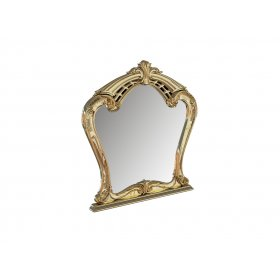 Зеркало Ева глянец белый-золото