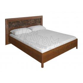 Кровать 160х200 Флора вишня бюзум с профилем
