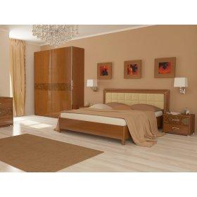 Кровать 180х200 Флора вишня бюзум профиль с подъемным механизмом и мягкой спинкой