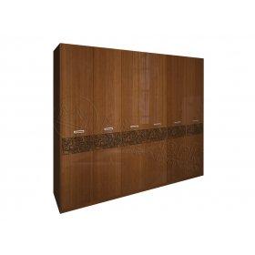 Шкаф шестидверный Флора вишня бюзум без зеркал
