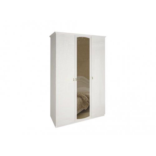 Шкаф трехдверный Футура глянец белый