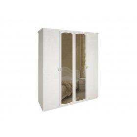 Шкаф четырехдверный Футура глянец белый