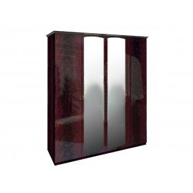 Шкаф четырехдверный Футура перо рубино