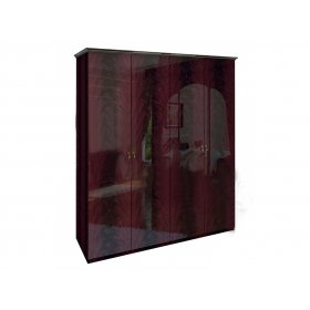 Шкаф четырехдверный Футура перо рубино без зеркал