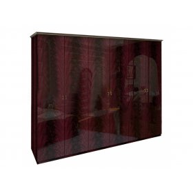 Шкаф шестидверный Футура перо рубино без зеркал