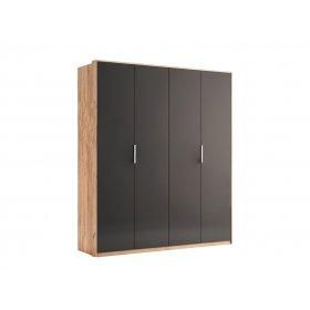 Шкаф Luna четырехдверный Лава/Дуб Кварт без зеркал