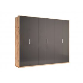 Шестидверный шкаф Luna без зеркал Лава/Дуб Крафт