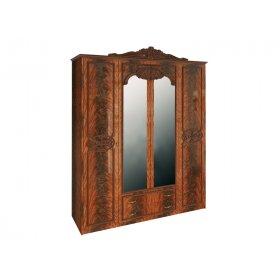 Шкаф четырехдверный Олимпия Перо Орех
