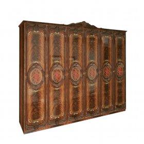 Шестидверный шкаф Реджина перо орех без зеркала