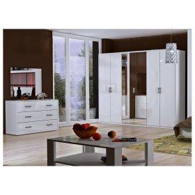 Спальный гарнитур Рома белый глянец
