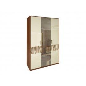 Шкаф трехдверный Терра ваниль/вишня бюзум