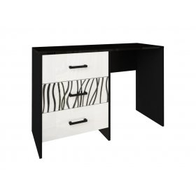 Туалетный столик Терра белый глянец/черный мат
