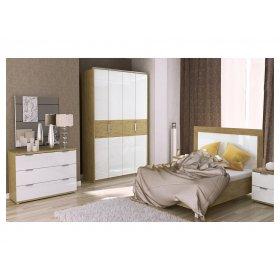 Комплект спальни Верона 4 дв глянец белый/дуб сан марино