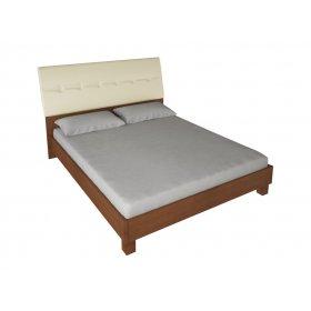 Кровать 160х200 Виола ваниль/вишня бюзум с мягкой спинкой