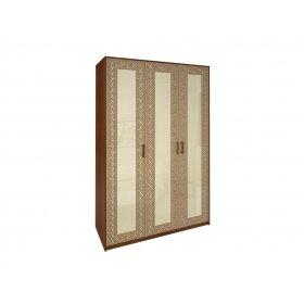 Шкаф трехдверный Виола ваниль/вишня бюзум без зеркал