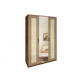 Шкаф трехдверный Виола ваниль/вишня бюзум
