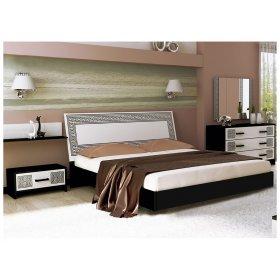 Спальный гарнитур Виола белый глянец/черный мат