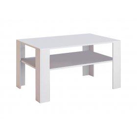 Стол журнальный Терра 110х70 Глянец белый/Черный мат