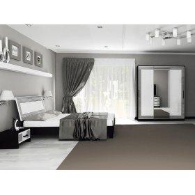 Спальный гарнитур Виола белый глянец/черный мат 1