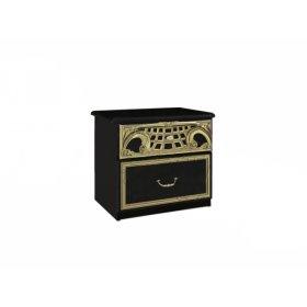 Прикроватная тумба Реджина Черная с двумя ящиками