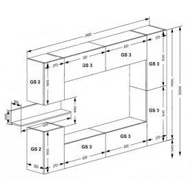 Секция GS-3 модульной системы Cubica