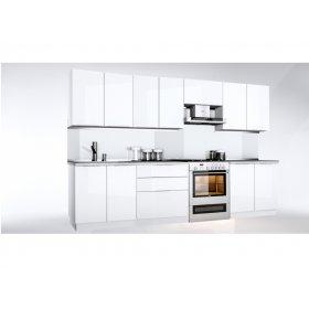 Кухня Орландо 2,6 м глянец белый